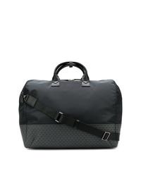 schwarze Segeltuch Sporttasche von Emporio Armani
