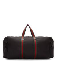 schwarze Segeltuch Sporttasche von Gucci