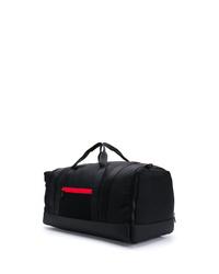 schwarze Segeltuch Sporttasche von Moncler