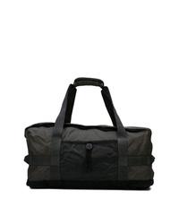 schwarze Segeltuch Sporttasche von Stone Island