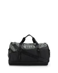 schwarze Segeltuch Sporttasche von VERSACE JEANS COUTURE
