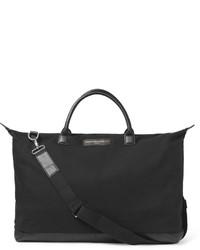 schwarze Segeltuch Sporttasche von WANT Les Essentiels