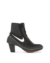 schwarze Segeltuch Stiefeletten von Nike