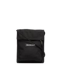 schwarze Segeltuch Umhängetasche von Balenciaga