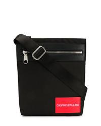 schwarze Segeltuch Umhängetasche von Calvin Klein Jeans