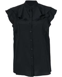 schwarze Seide Bluse von Givenchy