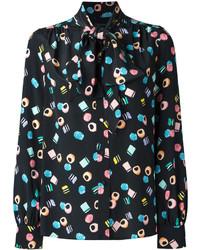 schwarze Seide Bluse von Marc Jacobs