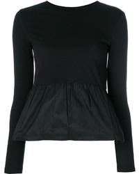 schwarze Seide Bluse von RED Valentino