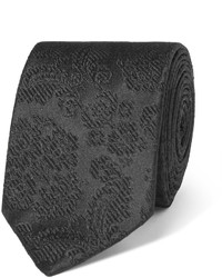 schwarze Seidekrawatte mit Blumenmuster von Dolce & Gabbana