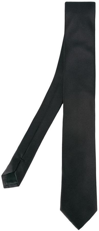 schwarze Seidekrawatte von Dolce & Gabbana