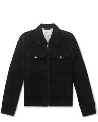 schwarze Shirtjacke aus Cord von Frame