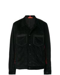 schwarze Shirtjacke aus Cord von Komakino