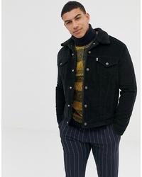 schwarze Shirtjacke aus Cord von Levi's