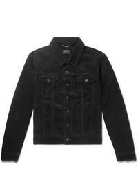 schwarze Shirtjacke aus Cord von Saint Laurent