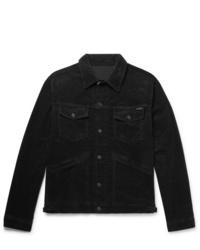 schwarze Shirtjacke aus Cord von Tom Ford