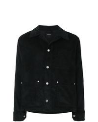 schwarze Shirtjacke aus Cord von Tom Wood