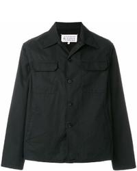schwarze Shirtjacke