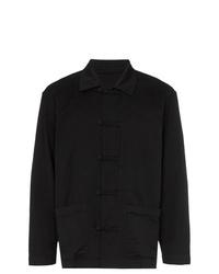schwarze Shirtjacke von Issey Miyake