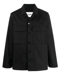 schwarze Shirtjacke von Jil Sander
