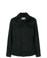 schwarze Shirtjacke von Maison Margiela