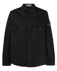schwarze Shirtjacke von Stone Island