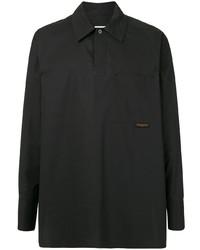 schwarze Shirtjacke von Wooyoungmi