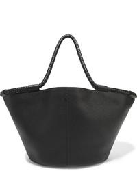 schwarze Shopper Tasche aus Leder mit Reliefmuster von The Row
