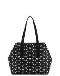 schwarze Shopper Tasche aus Leder mit Sternenmuster von Jimmy Choo