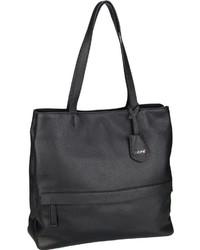 schwarze Shopper Tasche aus Leder von Abro