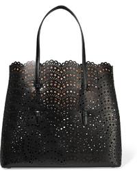 schwarze Shopper Tasche aus Leder von Alaia