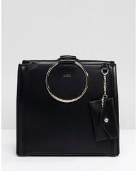 schwarze Shopper Tasche aus Leder von Aldo