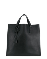 schwarze Shopper Tasche aus Leder von AMI Alexandre Mattiussi