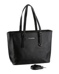 schwarze Shopper Tasche aus Leder von Bruno Banani