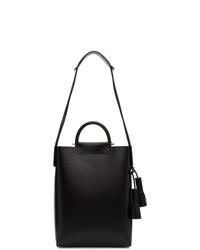 schwarze Shopper Tasche aus Leder von Building Block