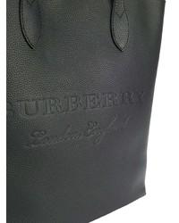 schwarze Shopper Tasche aus Leder von Burberry