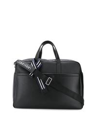 schwarze Shopper Tasche aus Leder von Calvin Klein