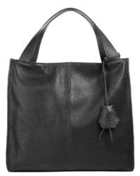 schwarze Shopper Tasche aus Leder von CLUTY