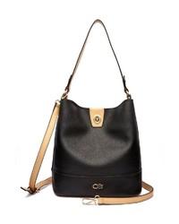 schwarze Shopper Tasche aus Leder von COLLEZIONE ALESSANDRO
