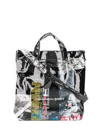 schwarze Shopper Tasche aus Leder von Comme des Garcons