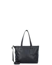 schwarze Shopper Tasche aus Leder von Cowboysbag