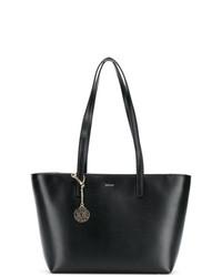 schwarze Shopper Tasche aus Leder von DKNY