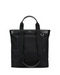schwarze Shopper Tasche aus Leder von Dolce & Gabbana