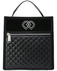 schwarze Shopper Tasche aus Leder von Dsquared2