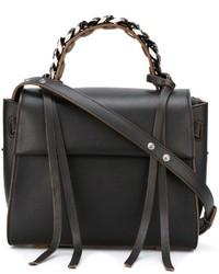 Schwarze Shopper Tasche aus Leder von Elena Ghisellini