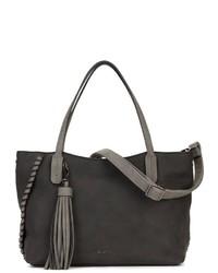 schwarze Shopper Tasche aus Leder von EMILY & NOAH