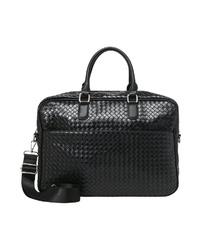 schwarze Shopper Tasche aus Leder von er piu