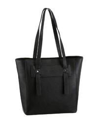schwarze Shopper Tasche aus Leder von Esprit