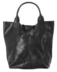 schwarze Shopper Tasche aus Leder von forty°