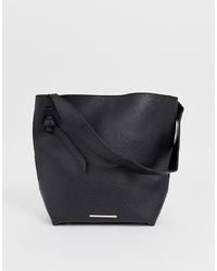 schwarze Shopper Tasche aus Leder von French Connection