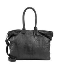 schwarze Shopper Tasche aus Leder von Fritzi aus Preußen